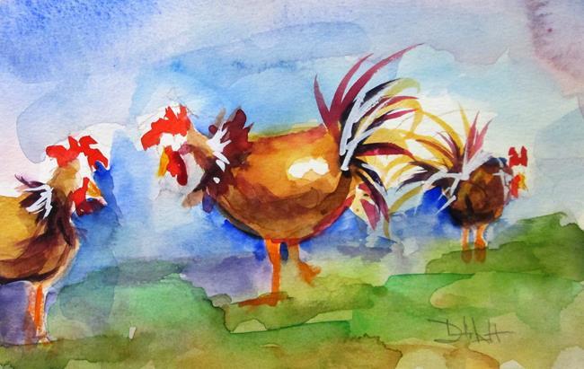 Art: Hens by Artist Delilah Smith