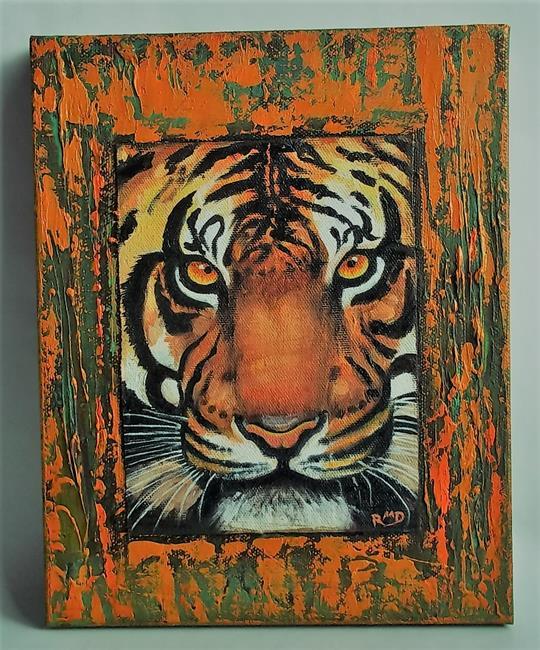 Art: TIGER AUTUMN by Artist Rosemary Margaret Daunis