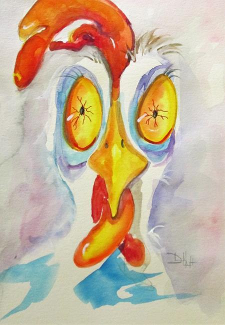 Art: Late Night Rooster by Artist Delilah Smith
