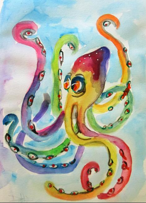 Art: Octopus No. 3 by Artist Delilah Smith