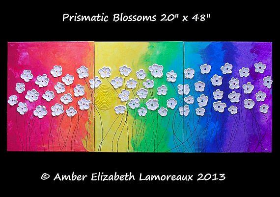 Art: Prismatic Blossoms (sold) by Artist Amber Elizabeth Lamoreaux