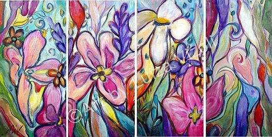 Art: Orchid Flowers by Artist LUIZA VIZOLI