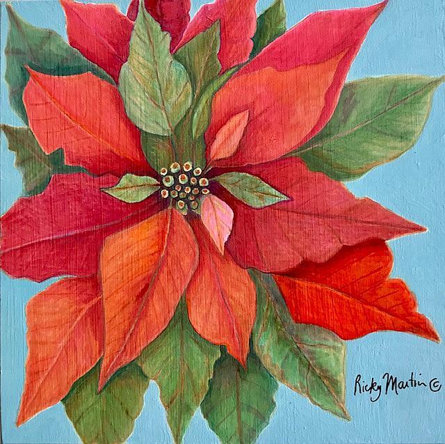 Art: Poinsettia by Artist Ulrike 'Ricky' Martin