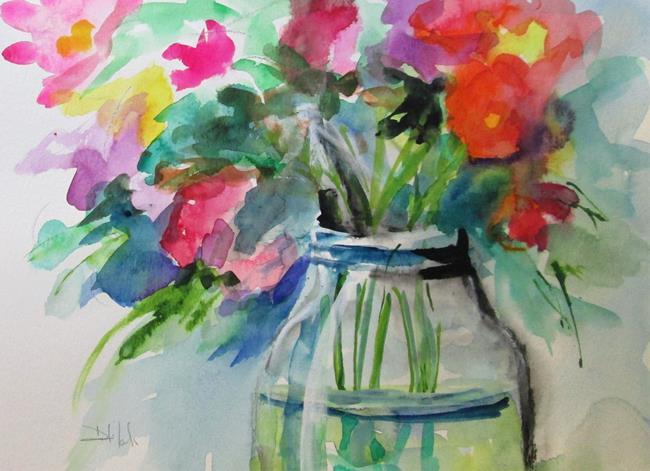Art: Wild Flowers in a Jar by Artist Delilah Smith