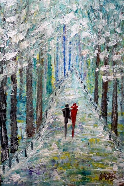 Art: Winter Romance by Artist LUIZA VIZOLI