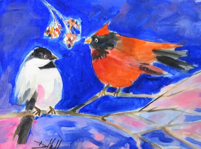 Art: Birds on a Limb by Artist Delilah Smith
