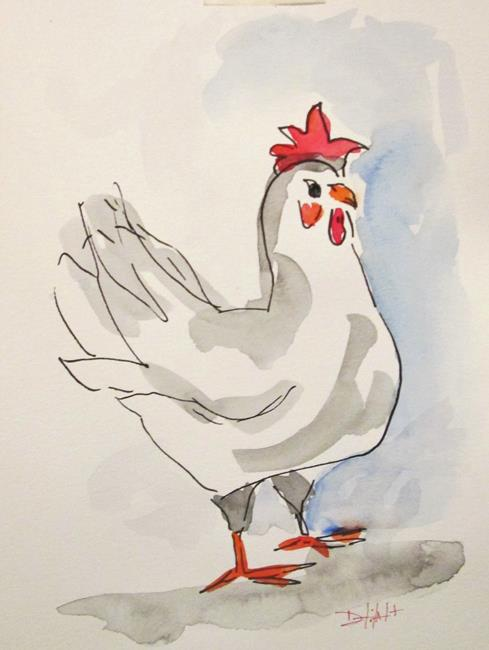 Art: Chicken by Artist Delilah Smith