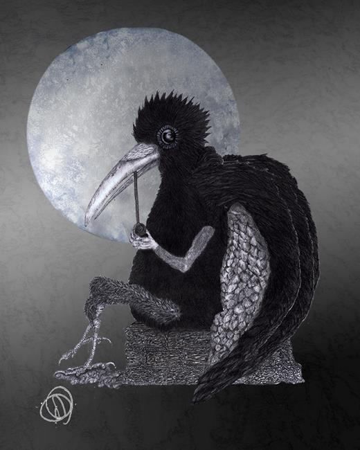 Art: KING CROW c109 by Artist Dawn Barker