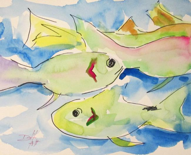 Art: Swimming Fish by Artist Delilah Smith