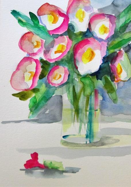 Art: Vase of Color by Artist Delilah Smith