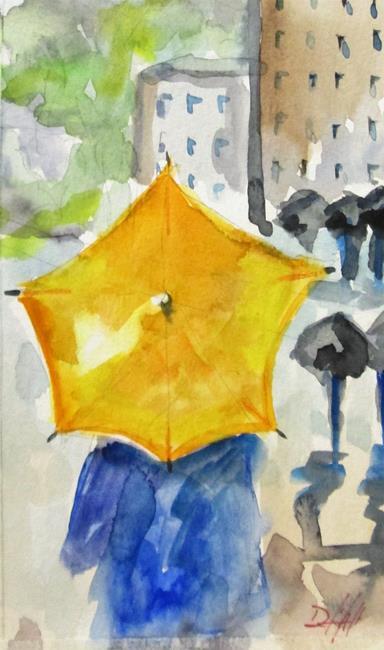 Art: Yellow Umbrella by Artist Delilah Smith