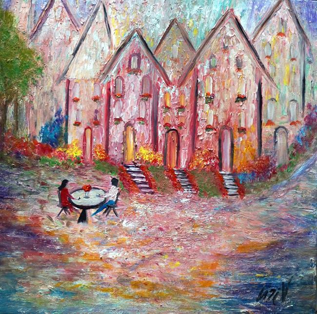 Art: Falling in love with Hallstatt by Artist LUIZA VIZOLI