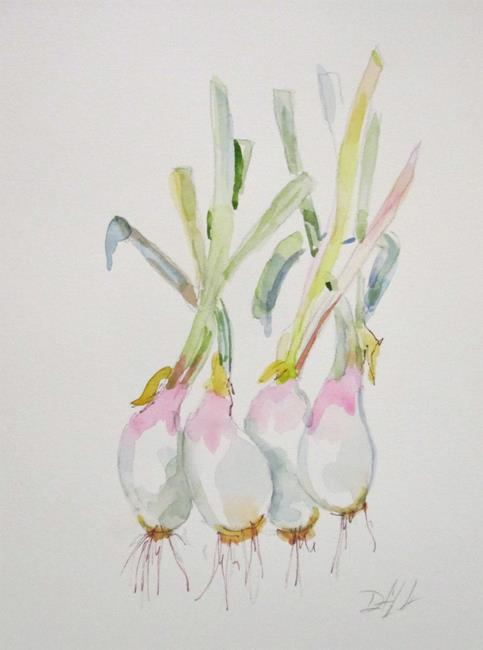 Art: Bunch of Onions by Artist Delilah Smith