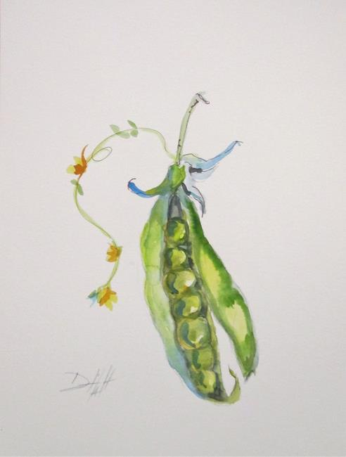 Art: Pea Pod by Artist Delilah Smith