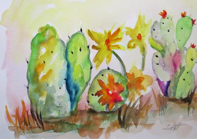 Art: Cactus No. 9 by Artist Delilah Smith