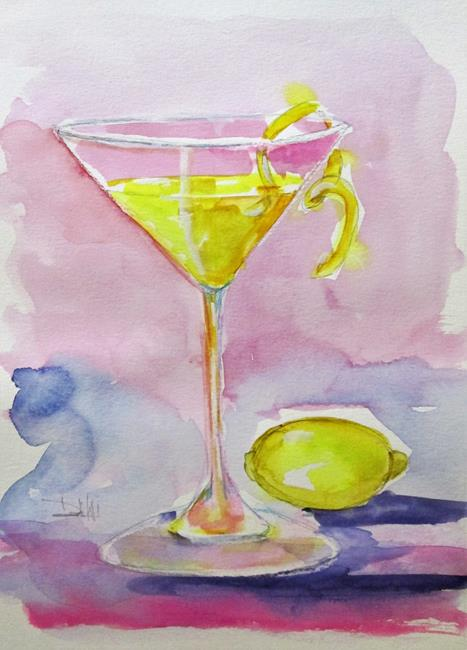 Art: Lemon Drop Martini-sold by Artist Delilah Smith