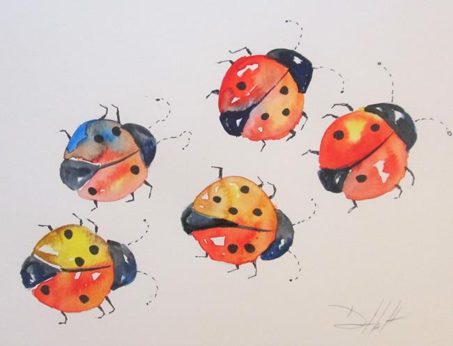 Art: Lady Bugs by Artist Delilah Smith