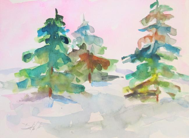 Art: Pine Trees No. 2 by Artist Delilah Smith