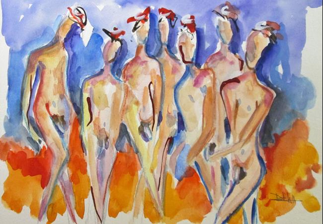 Art: Nudes No.3 by Artist Delilah Smith