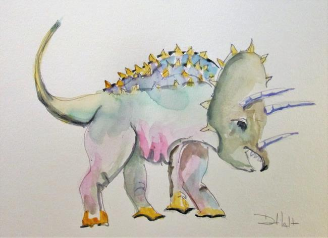 Art: Triceratops by Artist Delilah Smith