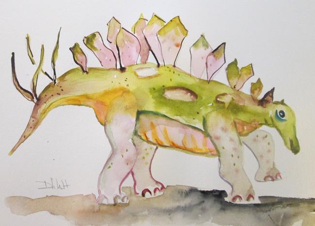 Art: Stegosaurus by Artist Delilah Smith
