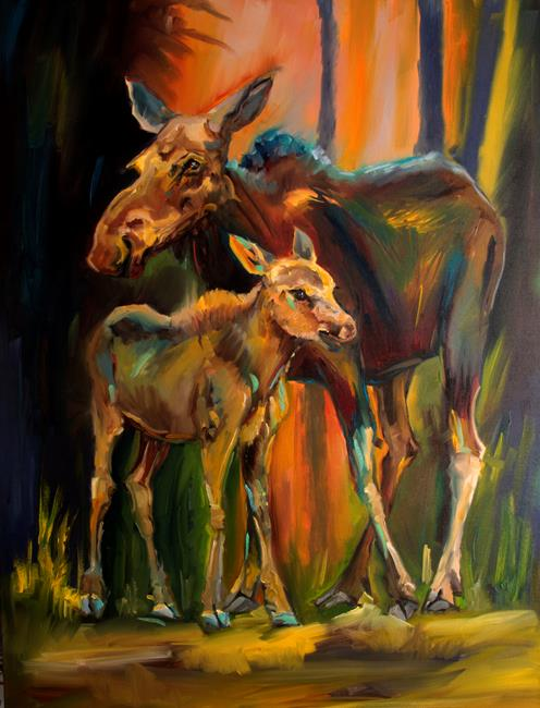 Art: Momma Time by Artist Diane M Whitehead