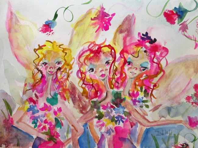 Art: Garden Fairies by Artist Delilah Smith