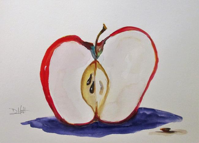 Art: Half Apple , No. 20 in Apple Series by Artist Delilah Smith