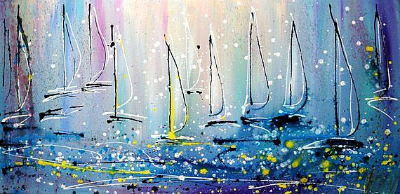 Art: SAILBOATS by Artist LUIZA VIZOLI