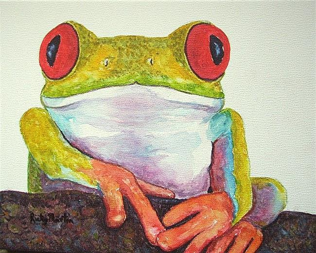 Art: Tree Frog - Sold by Artist Ulrike 'Ricky' Martin
