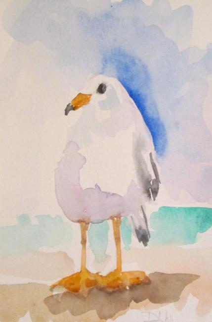 Art: Gull No 4 by Artist Delilah Smith