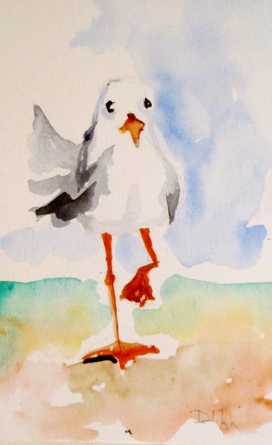 Art: Seagull No.3 by Artist Delilah Smith