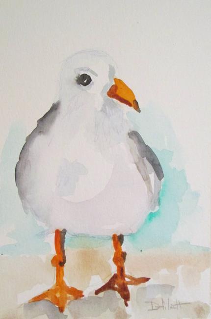 Art: Fat Gull by Artist Delilah Smith