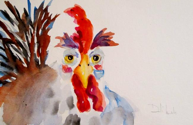 Art: Old Rooster by Artist Delilah Smith