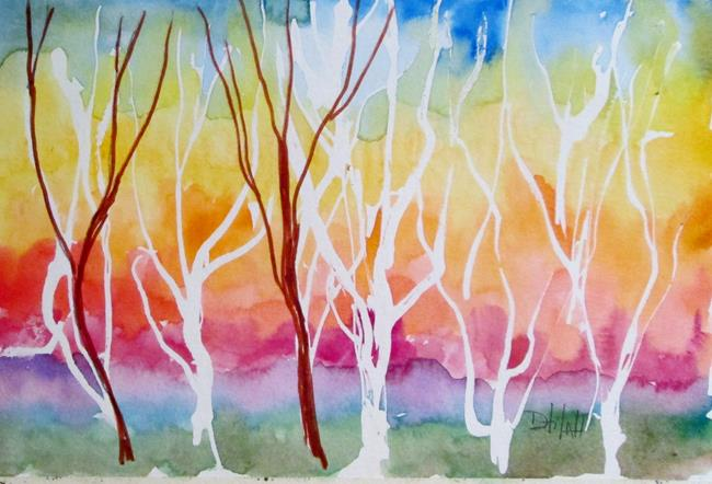 Art: Line of Trees by Artist Delilah Smith