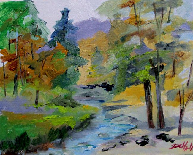Art: Woodland Stream No. 3 by Artist Delilah Smith