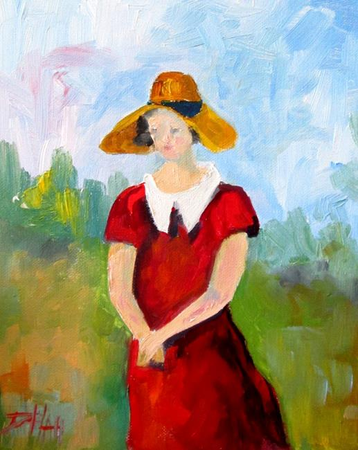 Art: Lady in Hat 4 by Artist Delilah Smith