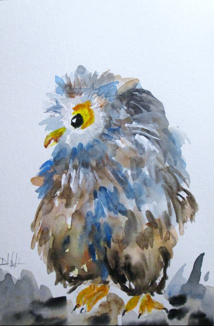 Art: Owl No. 9 by Artist Delilah Smith