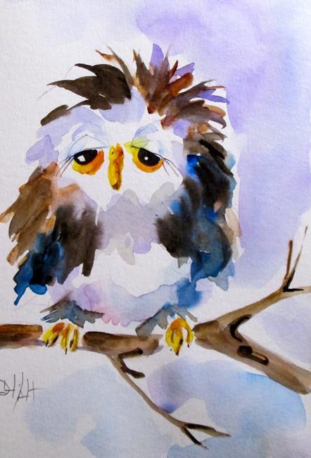 Art: Sleepy Owl No. 3 by Artist Delilah Smith