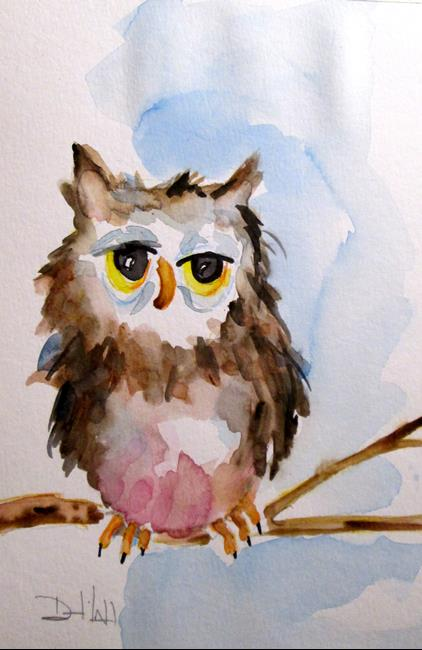 Art: Owl No. 10 by Artist Delilah Smith