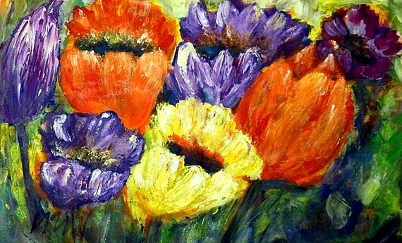 Art: Tulips by Artist LUIZA VIZOLI