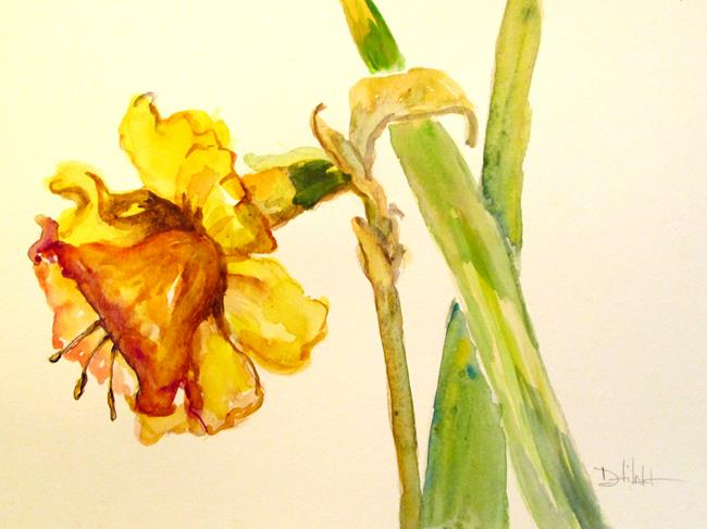 Art: Daffodil No. 3 by Artist Delilah Smith