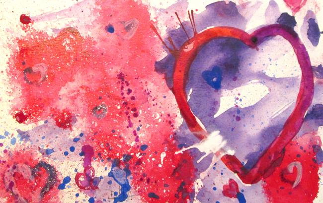 Art: Abstract Valentine No. 2 by Artist Delilah Smith
