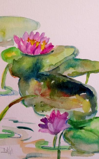 Art: Lily Pond No. 11 by Artist Delilah Smith