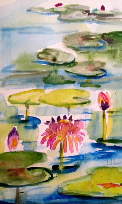 Art: Lily Pond No. 10 by Artist Delilah Smith