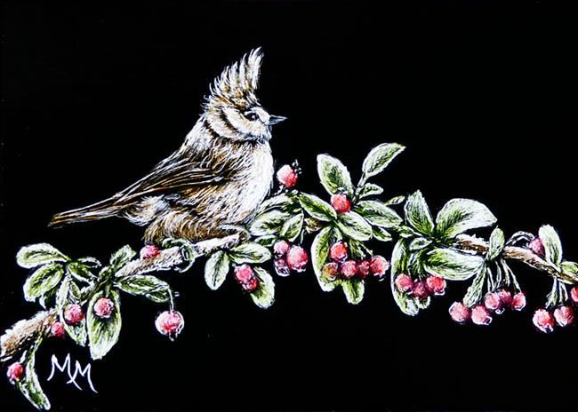 Art: Frosted Berries by Artist Monique Morin Matson