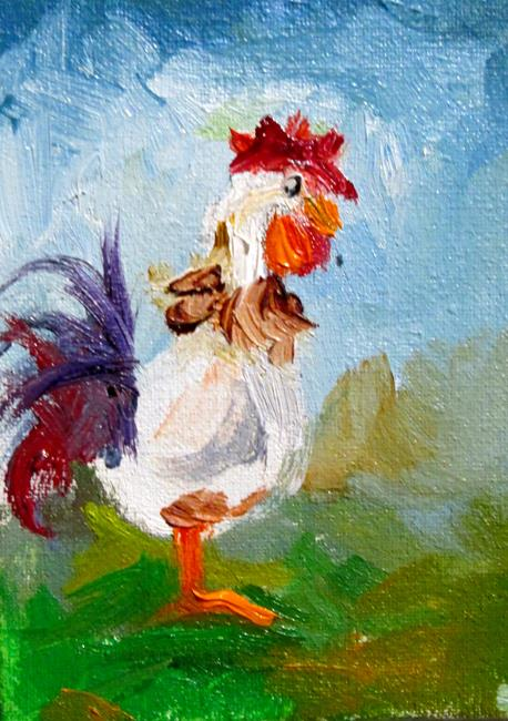 Art: Chicken No.36 by Artist Delilah Smith
