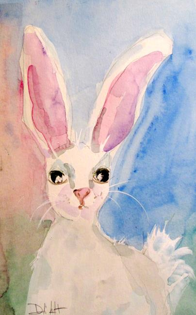 Art: Big Eared Rabbit by Artist Delilah Smith