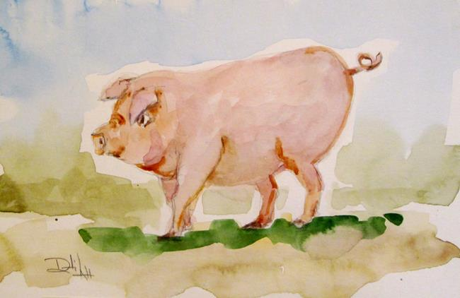 Art: Pig No. 7 by Artist Delilah Smith