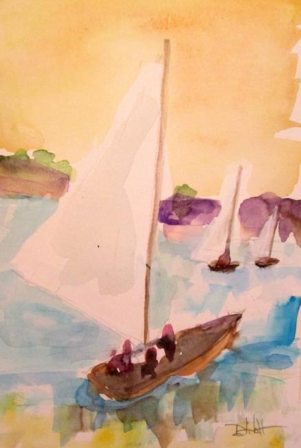 Art: Sailboats No. 11 by Artist Delilah Smith
